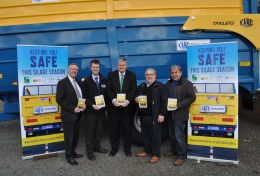 Ivor Ferguson UFU, Sean Keogh HSENI, Mike Reid YFCU, Noel and Colin Kane Kane Trailers